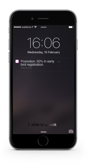 Communicate with push notifications