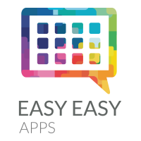 Logomarca Easy Easy Apps Vertical Cinza