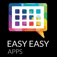 Logomarca Easy Easy Apps Vertical Branco
